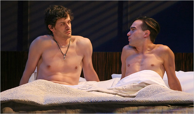 Johnny Galecki Shirtless In Bed