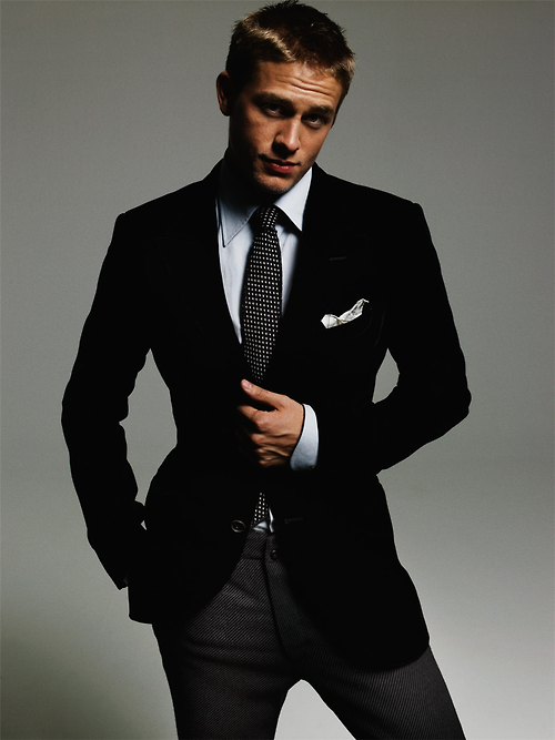 Charlie Hunnam in a suit